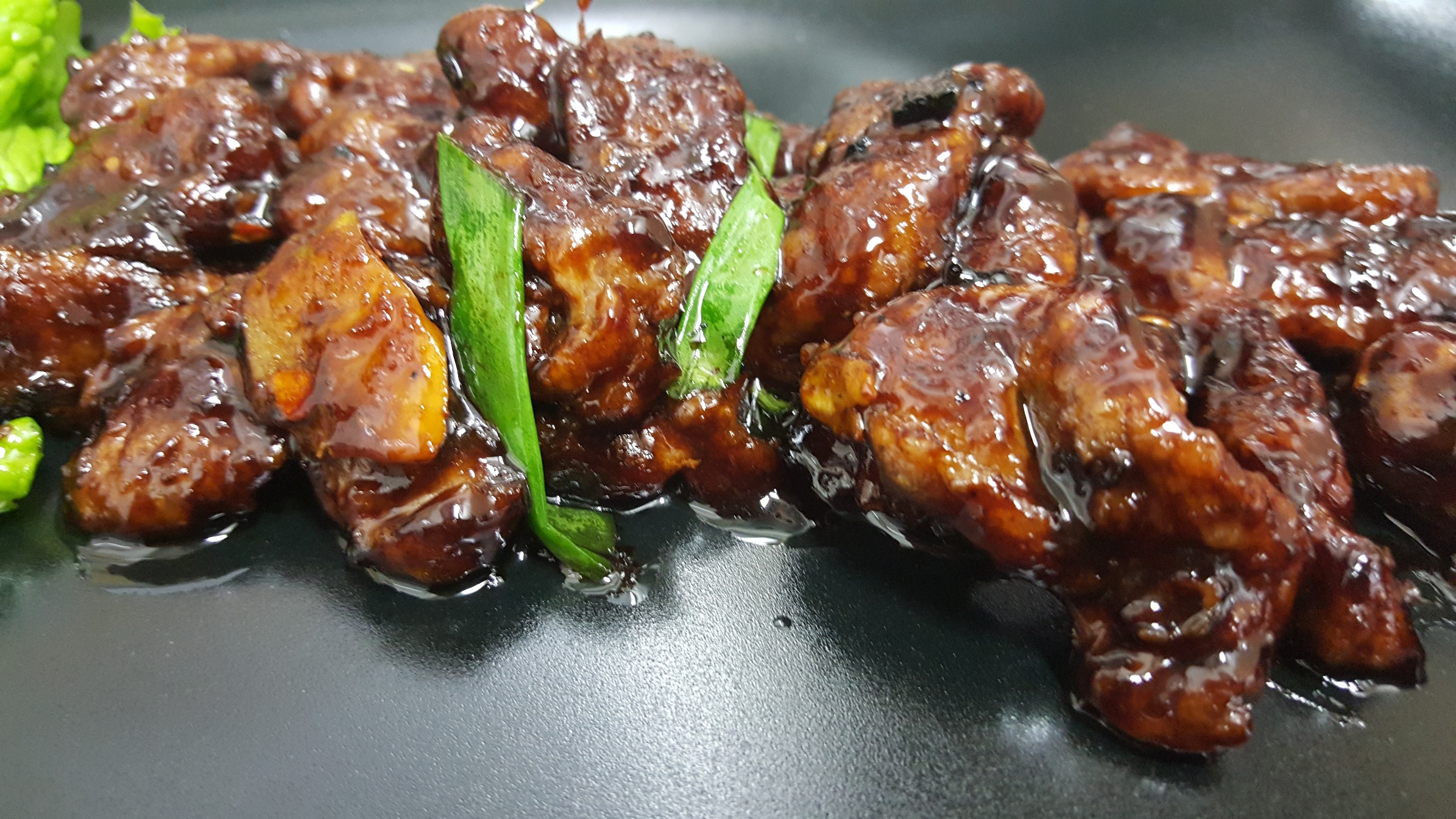 PIQUANT VEAL JULLIENSE - seasoned with fresh ginger, soya sauce, garlic, chinese pepper and chilli